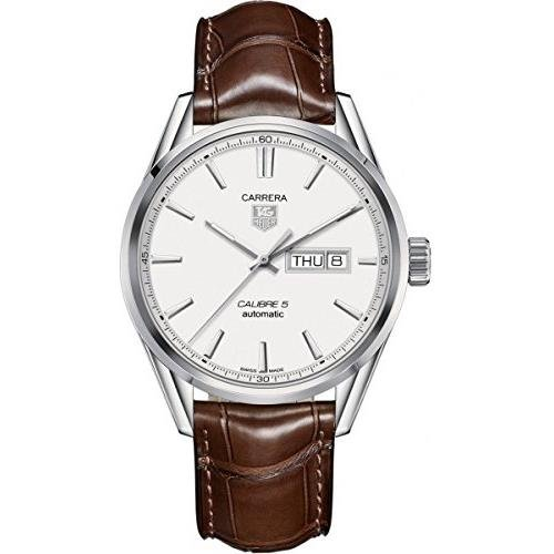TAG Heuer Men's WAR201B.FC6291 Carrera Analog Display Swiss Automatic Brown Watch (Watches Tag Heuer For Men Leather)