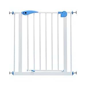 barrera seguridad Puertas De Bebé Para Mascotas Extra Altas Y Anchas Para Puertas Escaleras De Juego Para Jardín Puerta De Gato Para Perro De Metal Blanco De 100 Cm De Alto, 82-200