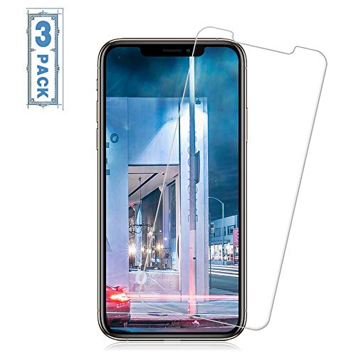 [3 Pack] iPhone Xs Max Screen Protectors Loopilops Tempered Glass Screen Protectors [No Bubbles] [9H Hardness] [3D Touch] Compatible Apple iPhone Xs Max[6.5 Inch] [2018]