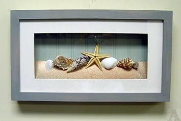 Beau Shell Seashell Starfish Fish Bathroom Room Shadow Box Wall Art