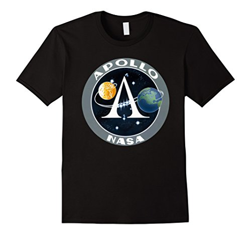 Apollo Program Moon Landing Patch Print NASA Tshirt