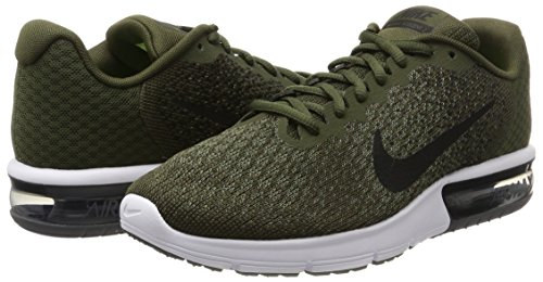 Nike Men's Air Max Sequent 2 Olive Green Running Shoes
