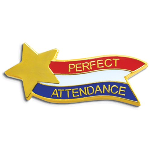 [Set of 100 Lapel Pins - Perfect Attendance] (Attendance Award Pin)