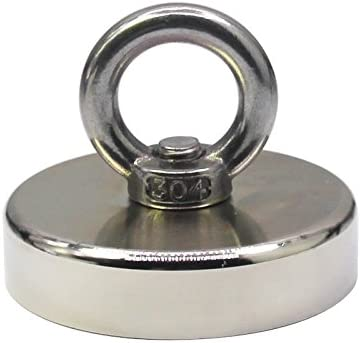 MagNets 500 Lbs Fishing Magnet is A Super Powerful Round Neodymium Rated 226Kg of Pull Force Strength with A 3 Full Face Max Hold Bottom