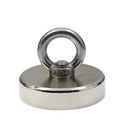FISHING MAGNET - 500 LBS PULL FORCE NEODYMIUM MAGNET FOR MAGNET FISHING, 2.95