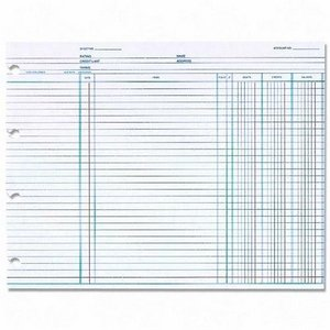 WLJN1D - Wilson Jones Balance Ledger Columnar Sheet