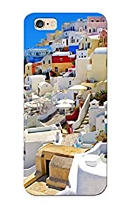 43471fc3673 New Premium Flip Case Cover Cityscapes Houses Santorini Greece Skin Case For Iphone 6 Plus As Christmas's Gift