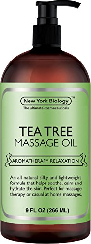 Tea Tree Massage Oil – 100% All Natural Ingredients – Tea Tree Sensual Body Oil Made with Essential Oils - Great For Muscle Relaxation, Stiff Joints & Deep Tissue – 9 FL Oz - Body Made