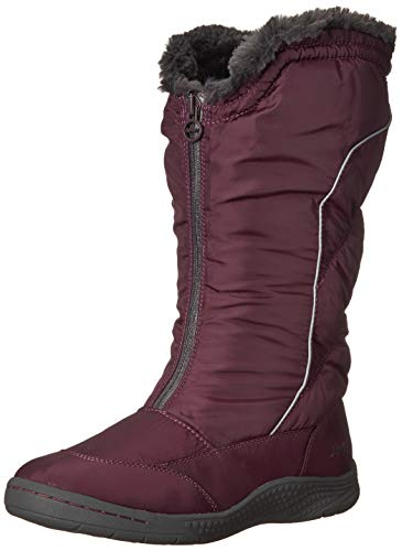 JSport by Jambu Nora Weather Ready - Botas de Nieve para Mujer, Vino, 8 M US