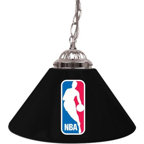 Logo Shade Black Team Lamps - NBA Single Shade Gameroom Lamp, 14
