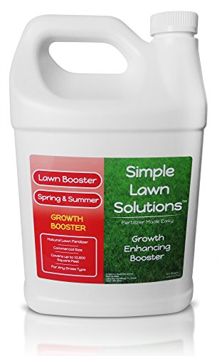 Sod and Seed Booster - Extreme Grass Growth Lawn Booster- Natural Liquid Spray Concentrated Fertilizer with Fulvic and Humic Acid- Any Grass Type- Simple Lawn Solutions (1 Gallon)