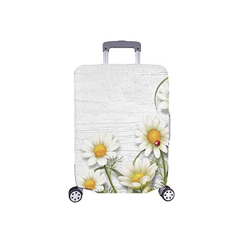 INTERESTPRINT Travel Luggage Protector Suitcase Covers Fit 18-28 Inch Pretty Daisy