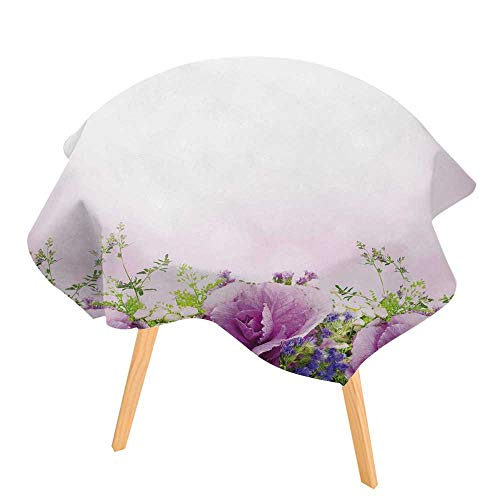 (PINAFORE Spring & Summber Tablecloth Spring Ative Cabbage is in a Bouquet Floral for Outdoor or Indoor Use, BBQs 63
