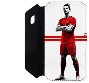 Wallet Flip funda por Samsung Galaxy S7 [PORTUGAL RONALDO] primera calidad Wallet Flip PU ??cuero funda por Samsung Galaxy S7 [FDIOJPWAE1141]