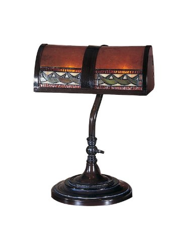 Dale Tiffany TA100682 Egyptian Desk Lamp, Mica Bronze by Dale Tiffany Lamps