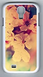 Fuzzy Flowers Red White Custom Samsung Galaxy I9500/Samsung Galaxy S4 Case Cover Polycarbonate White