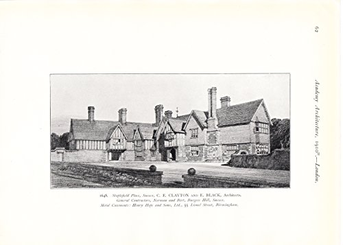 Staplefield Place, Sussex - 1910 Photogravure