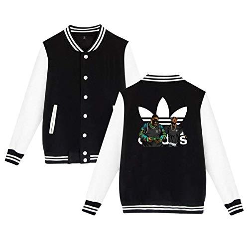 BAOVSYC Hip - Hop Legends Tupac Biggie Parody Unisex Baseball Jacket Varsity Jacket Black L (Varsity Jacket Tupac)