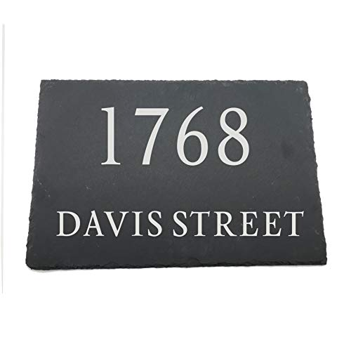 [해외]YUUNITY Engraved Handcrafted and Customizable Slate Home Address Plaque (12x8) / YUUNITY Engraved Handcrafted and Customizable Slate Home Address Plaque (12x8)