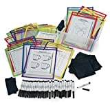 Nasco Dry-Erase Top-Loading Pouch Classroom Kit - Arts & Crafts Materials - TB24112