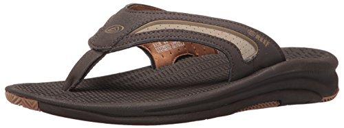 (Reef Men's Flex Sandal, Dark Brown Tan, 12 M US)