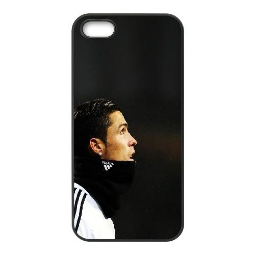 S5L21 Ronaldo CR E0S6YU coque iPhone 5 5s cellule de cas de téléphone couvercle coque noire FP2URX2XP