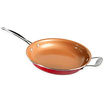 Amazon Com Red Copper 12 Inch Pan By Bulbhead Ceramic