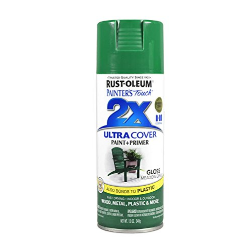 - Rust-Oleum 249100 Painter's Touch 2X Ultra Cover, 12-Ounce, Meadow Green