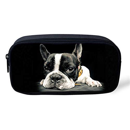 - INSTANTARTS Boston Terrier Pencil Pen Bag Pouch Toiletry Case Holder School Supplies