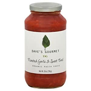 Daves Organic Roasted Garlic and Sweet Basil Pasta Sauce, 25.5 Ounce -- 6 per case.