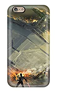 Hot Tpu Cover Case For Iphone/ 6 Case Cover Skin - Artistic Swtfu Star Destroyer Force Pull