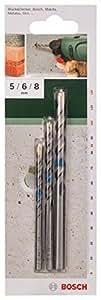 Bosch 2 609 255 416 - Juego de 3 brocas para hormigón (pack de 3)