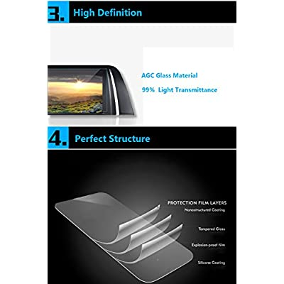 For Mercedes-Benz GLE/GLS/GLA/CLA/G Class Navigation Display Screen Protector 8''x5.5'',TTCR-II Anti-Explosion Touch Screen Protector (Full Cover Including Outer Frame),Tempered Glass Console GPS Screen Foils Fit CLA Class 20