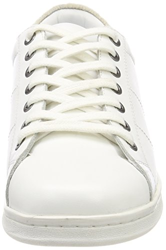 white Monochrome B35 Blanco Maruti Zapatillas Nena Leather Mujer Para qaa1Y0gB