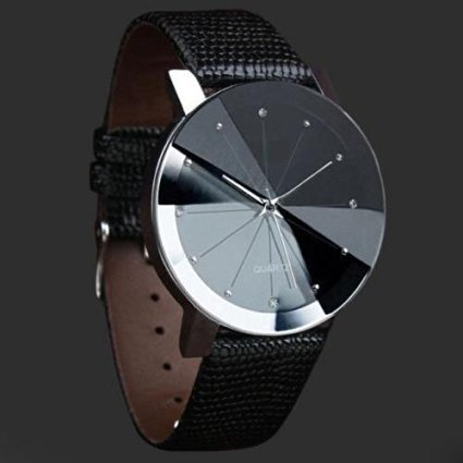 Luxury Men's Quartz Sport Military Stainless Steel Dial Leather Band Wrist Watchม 12-hour Dial Case Size 40mm (Omega Watch On Sale compare prices)