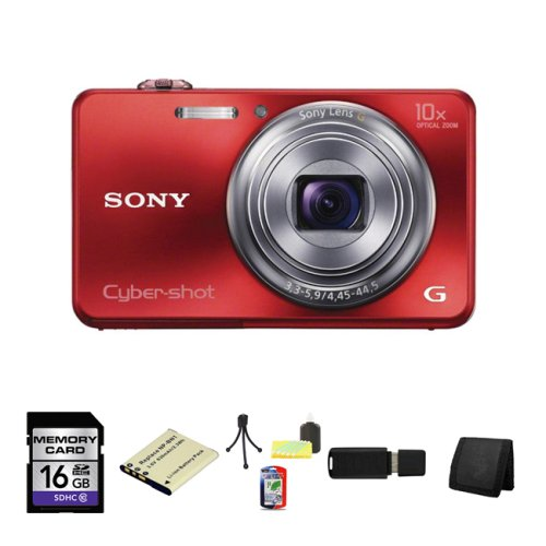 Sony Cyber-shot DSC-WX150 Digital Camera (Red) 16GB - Wx150 Sony Camera