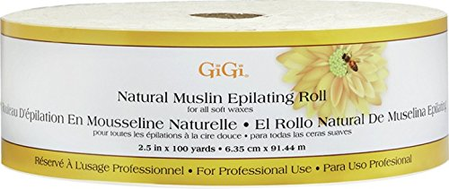 Gigi Natural Muslin Epilating Roll, 2.5 In x 100 - Muslin Epilating