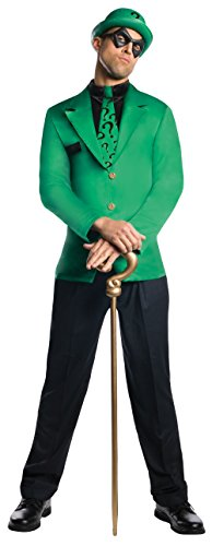 The Riddler Jacket (Rubie's Men's Dc Super Villains Adult Riddler, Green/Black,)
