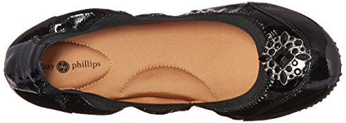 Lindsay Phillips Womens Karina Ballet Flat Black