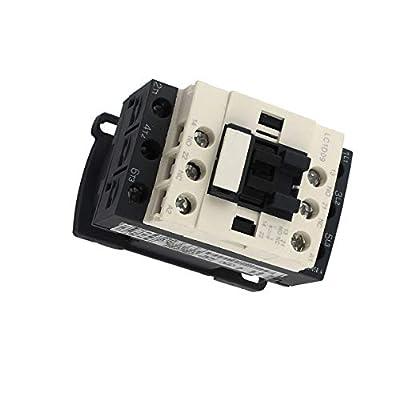 Aexit 110V 50/60Hz Controls & Indicators Coil 3-Pole NO NC DIN Rail Mount AC Motor Contactors Contactor LC1D09