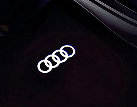 Car Welcome Door Logo Lights 2PCS LED Emblem Logo HD Projector Ghost Shadow Lights Easy Installation Courtesy Step Lights Ground Welcome Projector Lamp Kit for Audi Henlight 4350384652
