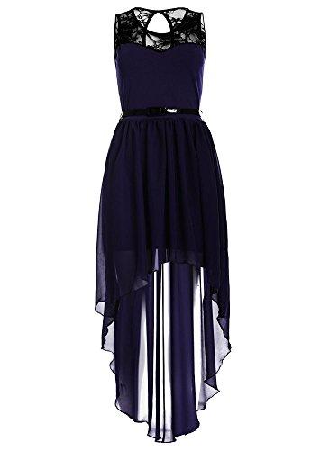 A Damen Violett Drasawee Linie Kleid 4v5cqT