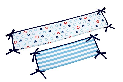 (Disney Mickey Mouse Porta Crib/Mini Crib 4 Piece Bumper)