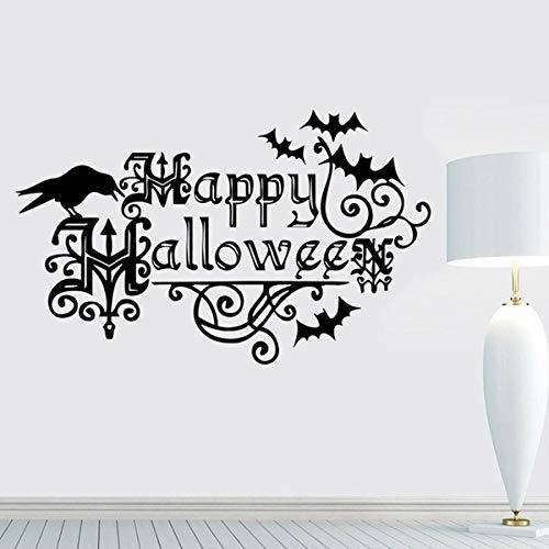 House Wall Decor Stickers Crow Nursery Bats Window Halloween Halloween Kids Decorations Vogue Happy Halloween for Bedroom Living Room -