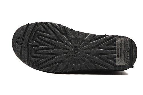 Ugg Australia W Bailey 1002954-Black Bow-Botte avec Paillettes Noir - Noir - Noir, 38 EU