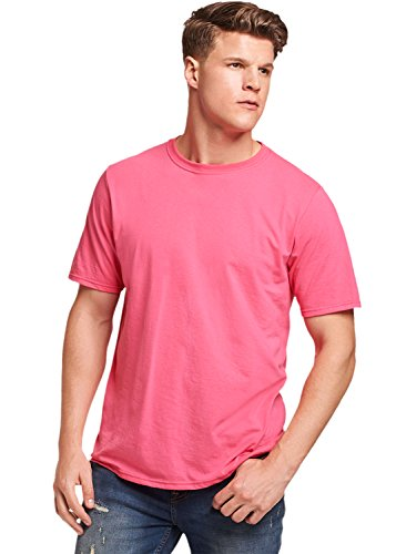 (Russell Athletic Men's Basic Cotton T-Shirt, Watermelon Pink,)