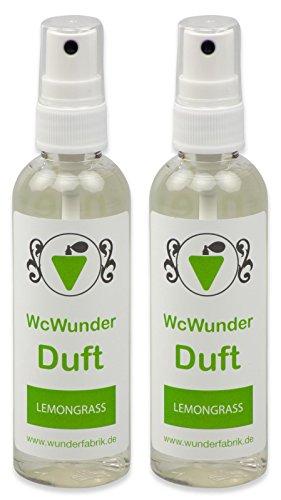 WcWunder Toiletten - Duft, 200ml in praktischen PET-Flaschen, Lemongras