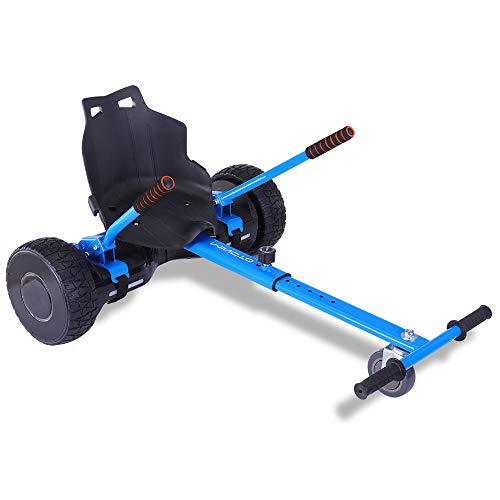 mingto Go Kart,Hoverboard Accessories,Hoverboard Seat Attachment-Adjustable for All Ages.Fits All Hoverboards.(Hoverboard Not Included) (Blue) (Hover Board Kit)