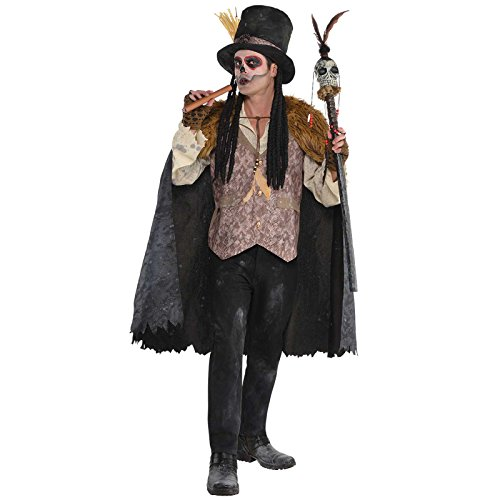 Suit Yourself Witch Doctor Halloween Costume for Men, Plus Size, with Included ()