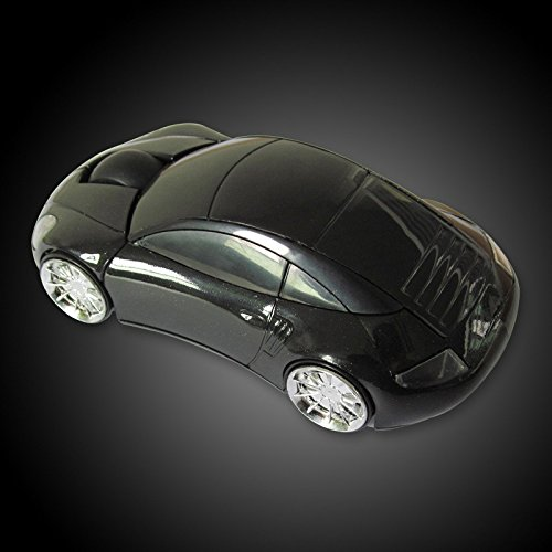 2.4GHz 3D Black Optical Wireless Car Shaped Mouse with USB